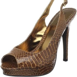 Rampage Shoes - Rampage Caty Slingback Brown Reptile pumps…